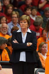 Dec 20, 2011; Stanford CA, USA;  Tennessee Lady Volunteers head coach Pat Summitt on the sidelines against the Stanford Cardinal during the first half at Maples Pavilion.  Stanford defeated Tennessee 97-80. Mandatory Credit: Jason O. Watson-US PRESSWIRE