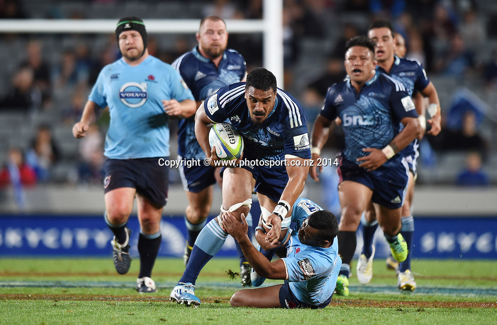 Jerome Kaino. ANZAC Day. Blues v Waratahs. Investec Super Rugby Season. Eden Park, Auckland, New Zealand. Friday 25 April 2014. Photo: Andrew Cornaga/Photosport.co.nz