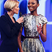 NLD/Hilversum/20141027 - Finale Holland Next Top Model 2014, Anouk Smulders, Aisha Kazumba