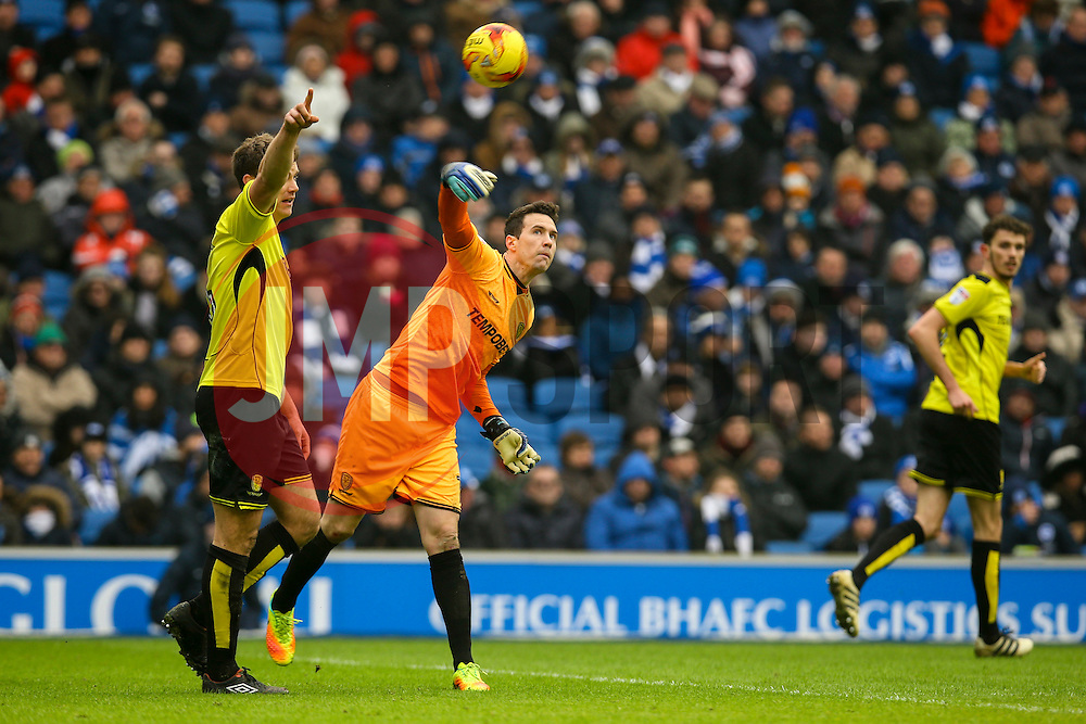 Jon McLaughlin of Burton Albion throws the ball out - Mandatory by-line: Jason Brown/JMP - 11/02/2017 - FOOTBALL - Amex Stadium - Brighton, England - Brighton and Hove Albion v Burton Albion - Sky Bet Championship