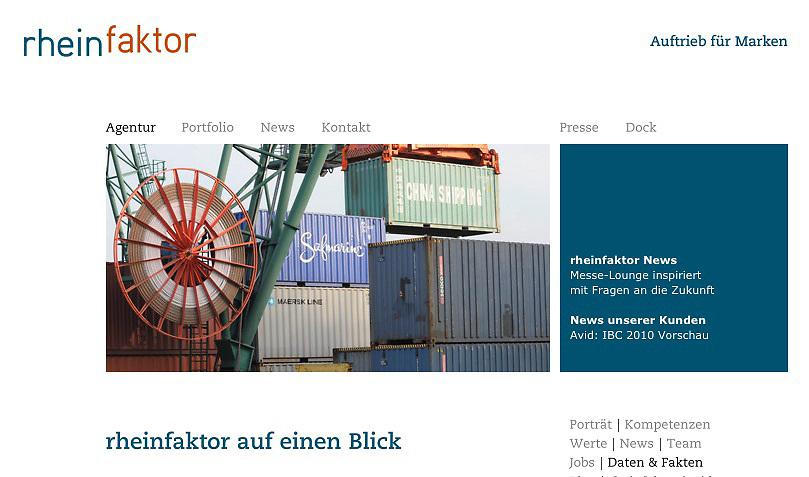 Fotos für den Internetauftritt der PR- und Werbeagentur rheinfaktor gmbh, Köln