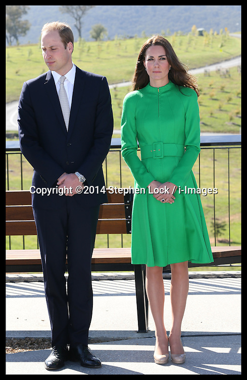 The Duke and  Duchess of Cambridge  at the National Arboretum in Canberra, Australia, Wednesday, 23rd April 2014. Picture by Stephen Lock / i-Images