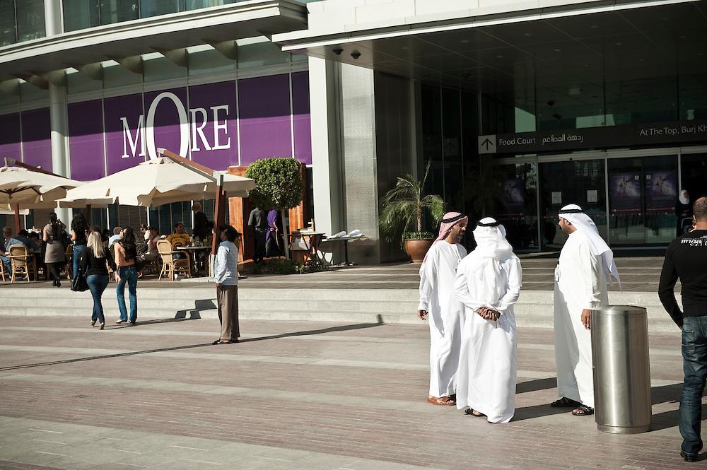 Arab men at Dubai Mall in Dubai, UAE on February 10, 2010