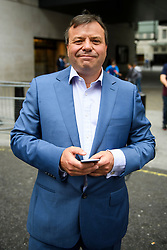 © Licensed to London News Pictures. 10/07/2016. London, UK. UKIP donor ARRON BANKS leaves BBC Broadcasting House in London after appearing on the Andrew Marr Show on July 10, 2016.  Photo credit: Ben Cawthra/LNP