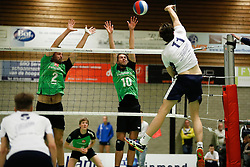 20161126 NED: Beker, Sliedrecht Sport - Pelster Cito: Sliedrecht <br />Dirk Peek, Thomas Dankers of Pelster Cito, Tom Feldkamp of Sliedrecht Sport <br />&copy;2016-FotoHoogendoorn.nl / Pim Waslander