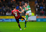 Oxford Utd's George Baldock and Yeovil Town's Matthew Dolan during the Sky Bet League 2 match between Yeovil Town and Oxford United at Huish Park, Yeovil, England on 28 December 2015. Photo by Graham Hunt.