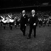 13/11/1966<br /> 11/13/1966<br /> 13 November 1966<br /> Under 21 Hurling Final: Cork v Wexford at Croke Park, Dublin.<br /> Taoiseach, Mr. Jack Lynch (left) accompanied by Mr. Alf Murray, President of the GAA.