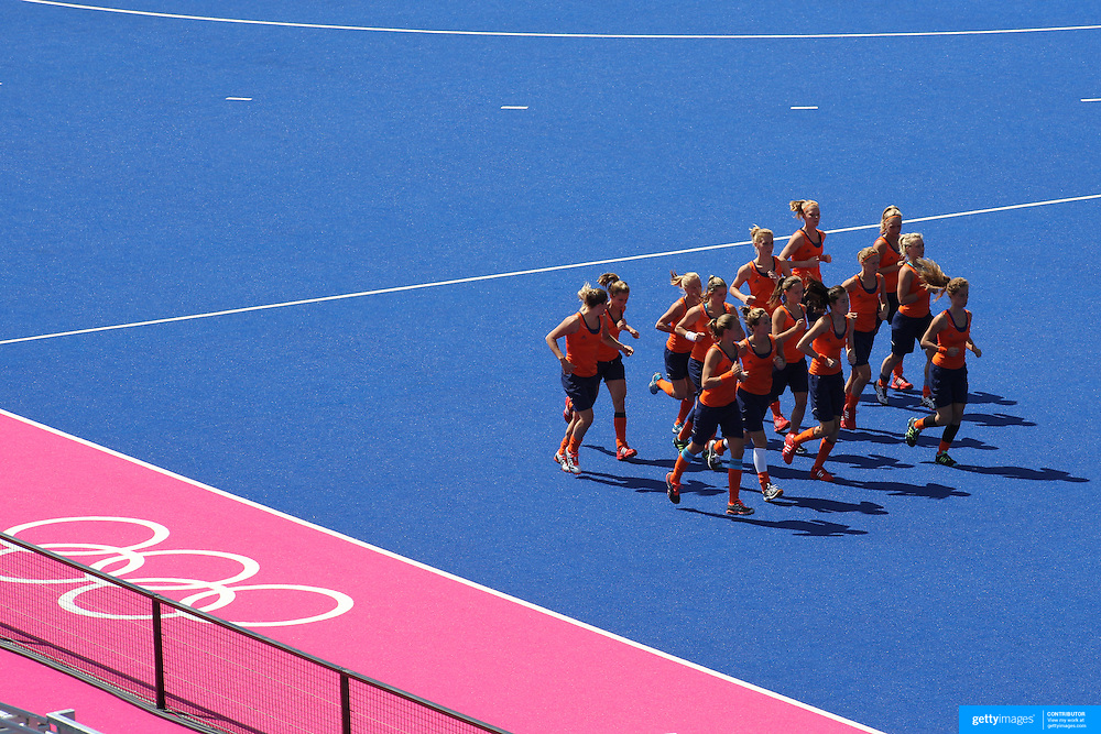 The Dutch Team Warm Up Before Australia V Holland Womens Hockey Match On