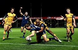 Max Stelling of Worcester Warriors scores a try  - Mandatory by-line: Robbie Stephenson/JMP - 04/11/2016 - RUGBY - Sixways Stadium - Worcester, England - Worcester Warriors v Bristol Rugby - Anglo Welsh Cup