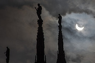 Partial solar eclipse in Milan