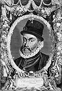 Philip II (1527-1598)  King of Spain  and Portugal, Naples, and  Sicily (1556-1598).  Son of Emperor Charles V.  In 1554 he married Mary I of England. On her death in 1558 he lost all claim to her throne.  Hapsburg