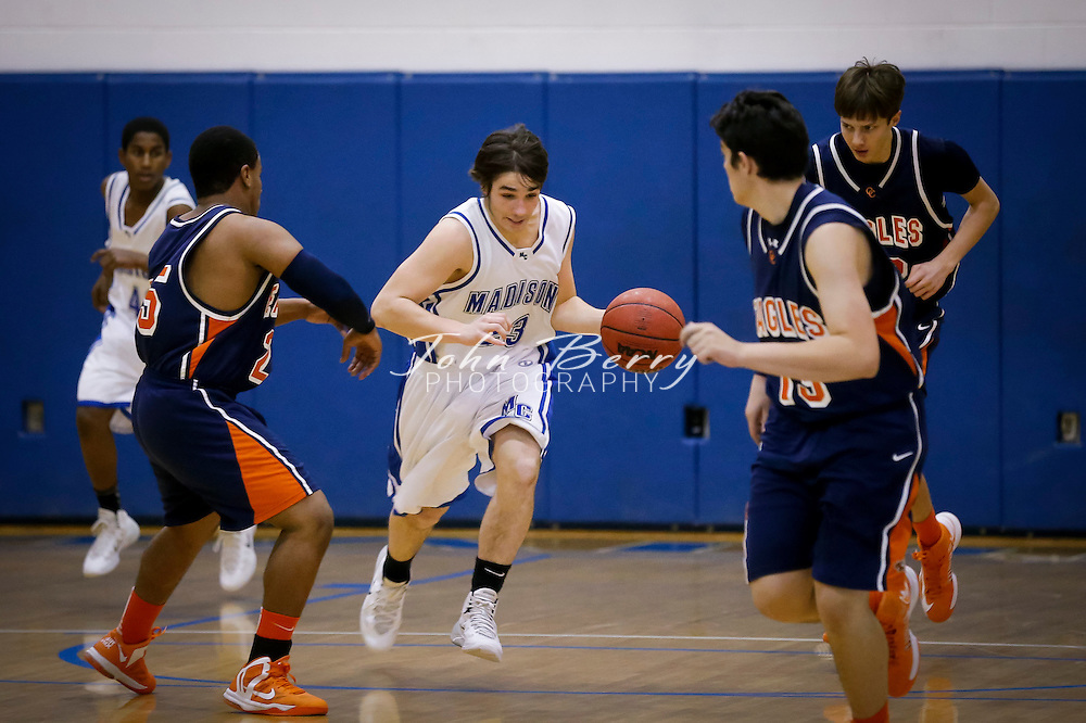 January 17, 2014:   MCHS JV Boys Basketball vs Clarke.  Madison loses to Clarke 60-47.