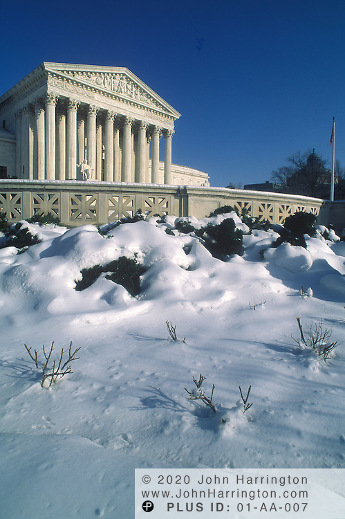 .US Supreme Court in winter.