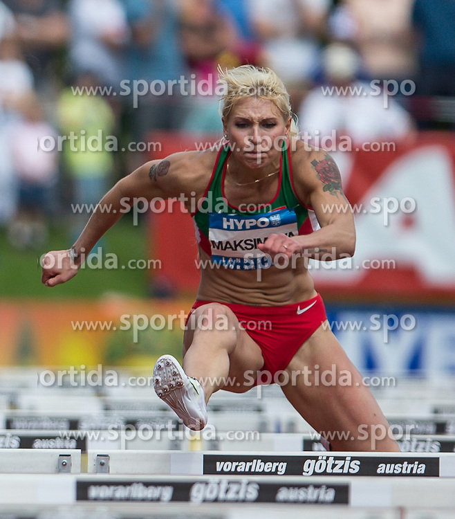 28.05.2016, Moeslestadion, Goetzis, AUT, 42. Hypo Meeting Goetzis 2016, Siebenkampf der Frauen, 100 Meter Huerden, im Bild Yana Maksimava (BLR) // Yana Maksimava of Belarus during the 100 metres hurdles event of the Heptathlon competition at the 42th Hypo Meeting at the Moeslestadion in Goetzis, Austria on 2016/05/28. EXPA Pictures © 2016, PhotoCredit: EXPA/ Peter Rinderer
