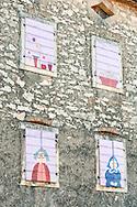 Painted shutters in the village of Brtonigla, near Buje, in northwest Istria, Croatia (November 2016) © Rudolf Abraham