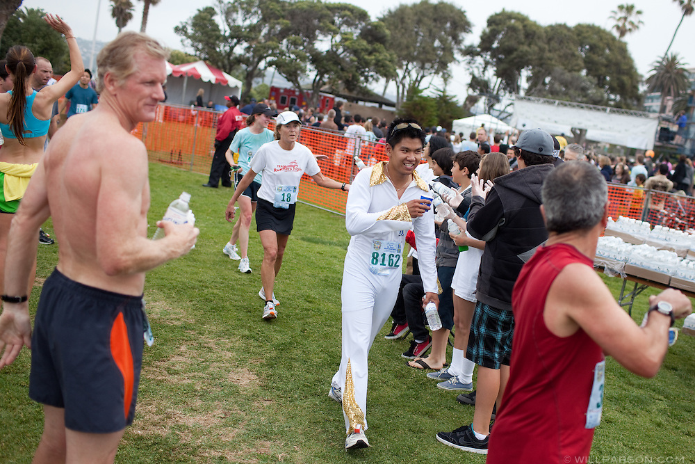 "Ethan ""Elvis"" Uong was inspired by a friend who ran as Elvis during a Rock and Roll marathon to do the same."