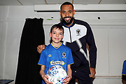 *** during the EFL Sky Bet League 1 match between AFC Wimbledon and Oxford United at the Cherry Red Records Stadium, Kingston, England on 10 March 2018. Picture by Matthew Redman.