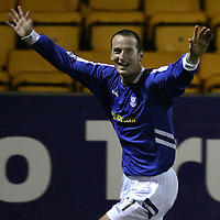 St Johnstone v Hamilton Accies...25.10.05<br />Paul Sheerin celebrates his second goal.<br /><br />Picture by Graeme Hart.<br />Copyright Perthshire Picture Agency<br />Tel: 01738 623350  Mobile: 07990 594431
