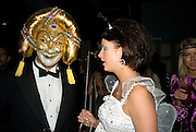 MARK CROWLEY AND MELODY BLACKLOCK, Patti and Andy Wong  host a night of Surrealism to Celebrate the Chinese Year of the Rat. County Hall Gallery and Dali Universe. London. 27 January 2008. -DO NOT ARCHIVE-© Copyright Photograph by Dafydd Jones. 248 Clapham Rd. London SW9 0PZ. Tel 0207 820 0771. www.dafjones.com.