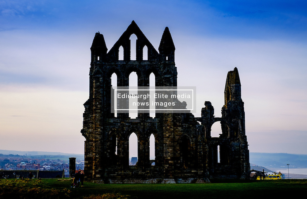 Whitby Abbey - a ruined Benedictine abbey overlooking the North Sea on the East Cliff above Whitby in North Yorkshire, England.<br /> <br /> (c) Andrew Wilson   Edinburgh Elite media