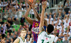 during basketball match between KK Union Olimpija and FC Barcelona Regal of 1st Round in Group D of Regular season of Euroleague 2011/2012 on October 20, 2011, in Arena Stozice, Ljubljana, Slovenia. (Photo by Vid Ponikvar / Sportida)