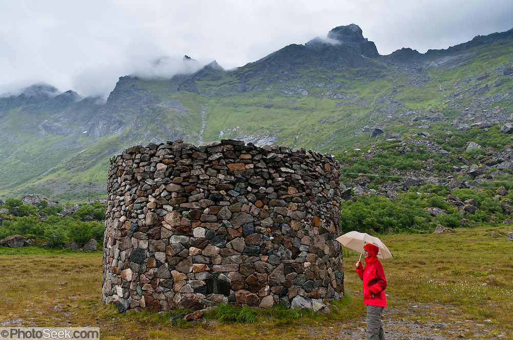 The Epitaph sculpture by Toshikatsu Endo, 1998, is part of Skulpturlandskap Nordland / Artscape Nordland, near Ramberg village, Norway. Flakstadøya (the Flakstad Island) is in Lofoten, an archipelago and traditional district in Nordland county of Norway.