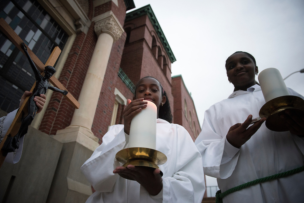 BALTIMORE 14 NOVEMBER: Images from the opening Mass at St Peter Claver Church of the USCCB Conference in Baltimore, Maryland on November 14, 2016