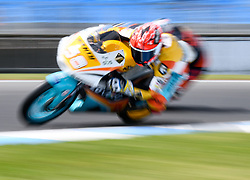 October 20, 2017 - Melbourne, Victoria, Australia - Spanish rider Juanfran Guevara (#58) of RBA BOE Racing Team in action during the second free practice session at the 2017 Australian MotoGP at Phillip Island, Australia. (Credit Image: © Theo Karanikos via ZUMA Wire)