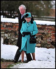 JAN 20 2013 The Queen attends Castle Rising Church