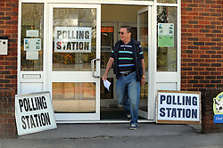 © Licensed to London News Pictures. 02/05/2013.Local county council Elections polling day today (02.05.2013)  voting at Christ Church Centre polling station in Swanley, Kent..Photo credit :Grant Falvey/LNP