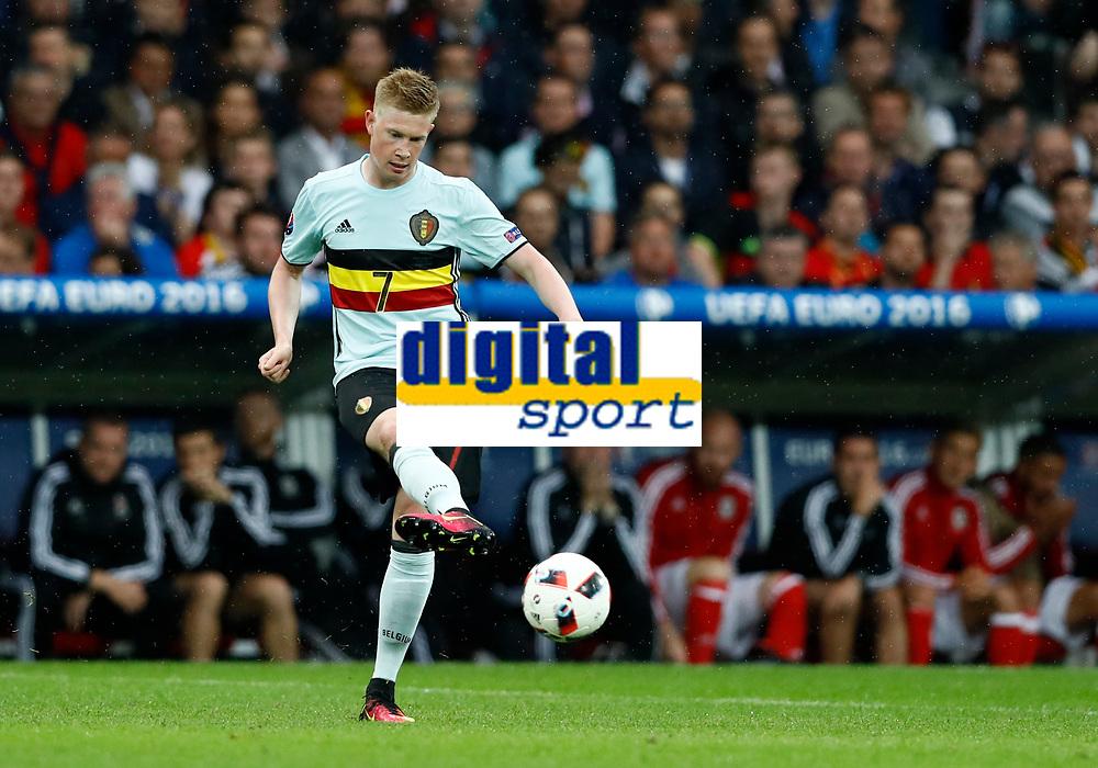 Kevin De Bruyne (Belgium)<br /> Lille 01-07-2016 Stade Pierre Mauroy Football Euro2016 Wales - Belgium / Galles - Belgio <br /> Quarter-finals. Foto Matteo Ciambelli / Insidefoto
