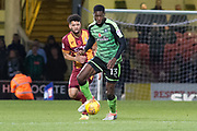 Plymouth Argyle Forward Nathan Blissett (13) in action during the EFL Sky Bet League 1 match between Bradford City and Plymouth Argyle at the Northern Commercials Stadium, Bradford, England on 11 November 2017. Photo by Craig Zadoroznyj.