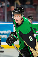 KELOWNA, BC - JANUARY 19: Kaiden Guhle #6 of the Prince Albert Raiders warms up against the Kelowna Rockets  at Prospera Place on January 19, 2019 in Kelowna, Canada. (Photo by Marissa Baecker/Getty Images)***Local Caption***