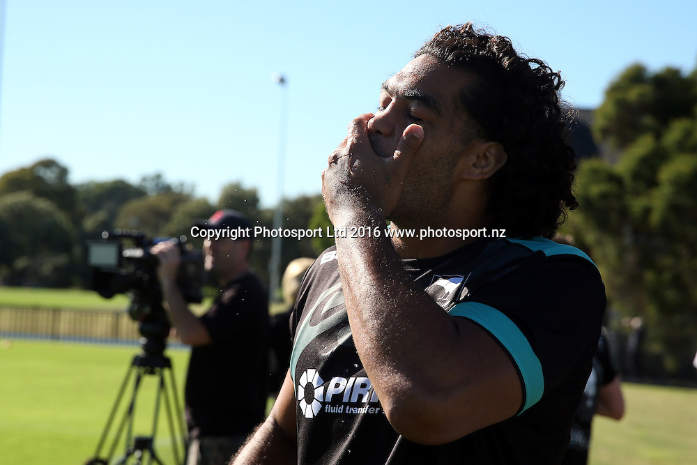 Adam Blair<br /> NZRL Training for the test match at Old Saleyards Reserve, North Parramatta Australia. Tuesday 3 May 2016. Photo: Paul Seiser/Photosport.nz