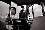 ITALY, Fondi: A farmer on his tractor.©Christian Minelli