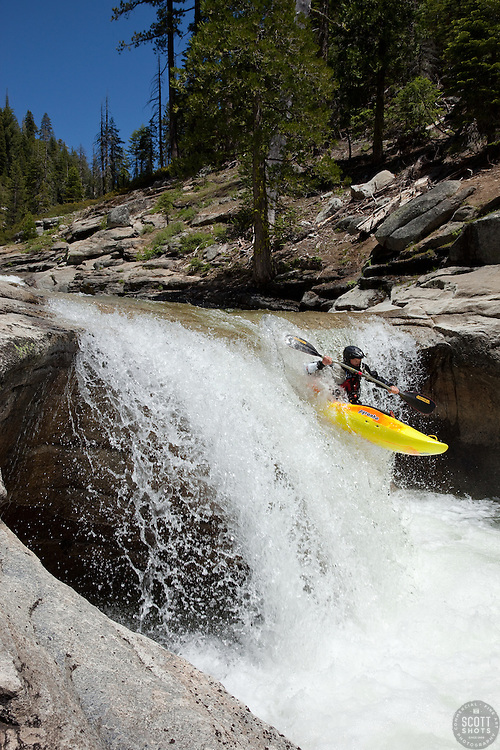 """""""Kayaker on Silver Creek 11"""" - This kayaker was photographed on Silver Creek - South Fork, near Icehouse Reservoir, CA."""