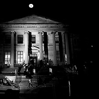 NORRISTOWN, PA - SEPTEMBER 24:  Bill Cosby accusers and members of the media gather outside the Montgomery County Courthouse before dawn on the first day of sentencing in Bill Cosby's sexual assault trial on September 24, 2018 in Norristown, Pennsylvania.  In April, Cosby was found guilty on three counts of aggravated indecent assault for drugging and sexually assaulting Andrea Constand at his suburban Philadelphia home in 2004.  60 women have accused the 80 year old entertainer of sexual assault.  (Photo by Mark Makela/Getty Images)