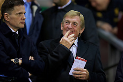 LIVERPOOL, ENGLAND - Wednesday, September 23, 2015: Liverpool's non-executive director Kenny Dalglish in the director's box before the Football League Cup 3rd Round match against Carlisle United at Anfield. (Pic by David Rawcliffe/Propaganda)