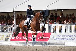 Michel Jessica (FRA) - Don Juan de Hus<br /> FEI World Breeding Dressage Championships for Young Horses - Verden 2013<br /> © Dirk Caremans