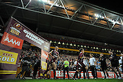 July 6th 2011: Darren Lockyer of the Marrons runs onto the field during game 3 of the 2011 State of Origin series at Suncorp Stadium in Brisbane, QLD, Australia on July 6, 2011. Photo by Matt Roberts / mattrimages.com.au / QRL