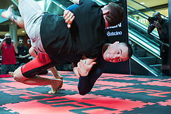 October 25, 2017 - Sao Paulo, Brazil - COLBY COVINGTON The midfielder, eighth in the ranking, participated in the training open on Wednesday in a shopping center in the city of Sao Paulo. The fights are scheduled for next Saturday in ibirapuera gymnasium. (Credit Image: © Marcelo Chello/CJPress via ZUMA Wire)