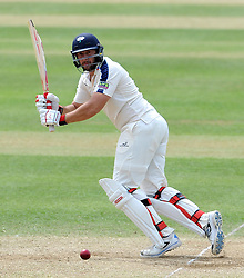 Yorkshire's Tim Bresnan flicks the ball Photo mandatory by-line: Harry Trump/JMP - Mobile: 07966 386802 - 27/05/15 - SPORT - CRICKET - LVCC County Championship - Division 1 - Day 4 - Somerset v Yorkshire - The County Ground, Taunton, England.