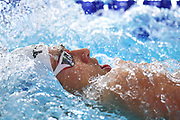 Geoffroy Mathieu (FRA) competes onn Men's 200 m Backstroke semifinal during the Swimming European Championships Glasgow 2018, at Tollcross International Swimming Centre, in Glasgow, Great Britain, Day 6, on August 7, 2018 - Photo Stephane Kempinaire / KMSP / ProSportsImages / DPPI