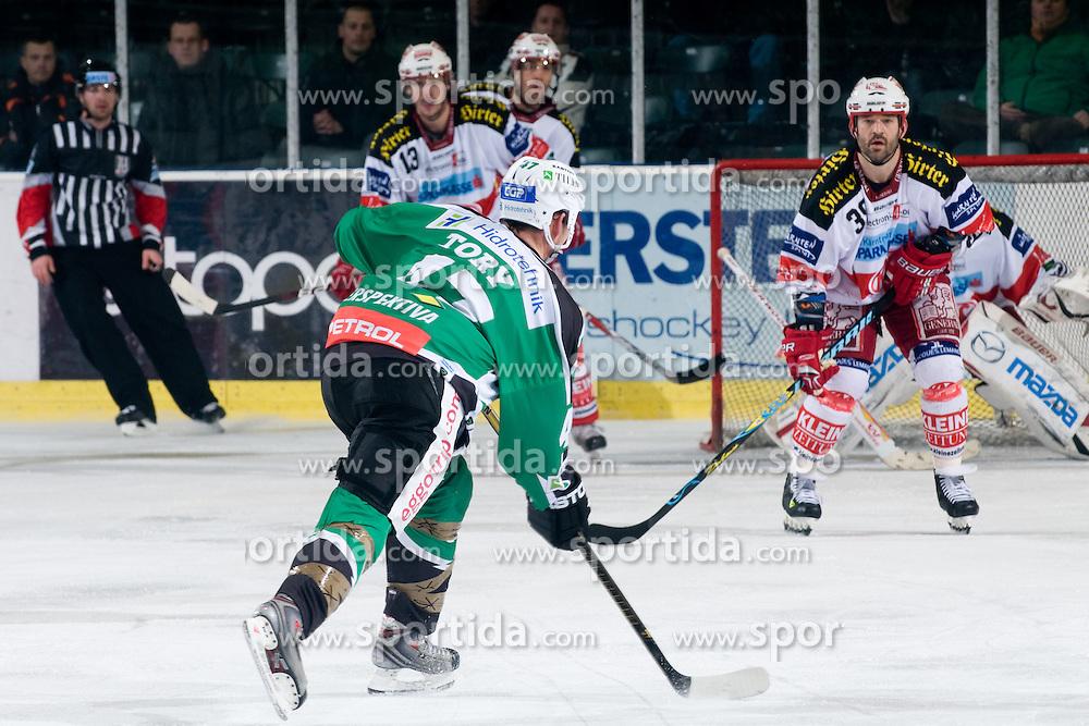 Jeff Tory (HDD Tilia Olimpija, #47) during ice-hockey match between HDD Tilia Olimpija and EC KAC in 32nd Round of EBEL league, on December 30, 2010 at Hala Tivoli, Ljubljana, Slovenia. (Photo By Matic Klansek Velej / Sportida.com)