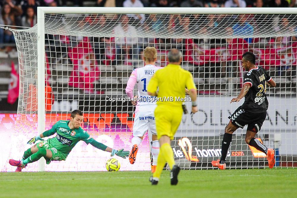 Goal David NGOG - 09.05.2015 -  Evian Thonon / Reims  - 36eme journee de Ligue 1<br />Photo : Jean Paul Thomas / Icon Sport