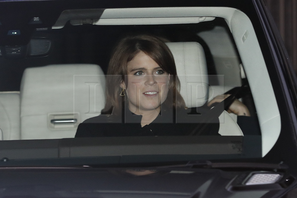 © Licensed to London News Pictures. 20/12/2017. London, UK. Members of the Royal Family are driven from Buckingham Palace after attending the Queen's annual Christmas lunch. Photo credit: Peter Macdiarmid/LNP