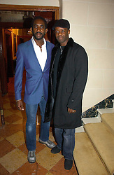 Left to right, RHASHAN STONE and actor ADRIAN LESTER at a party to launch the Ermenegildo Zegna Heritage Collection fo men at The Duchess Palace, Mansfield Street, London on 30th November 2006.<br />