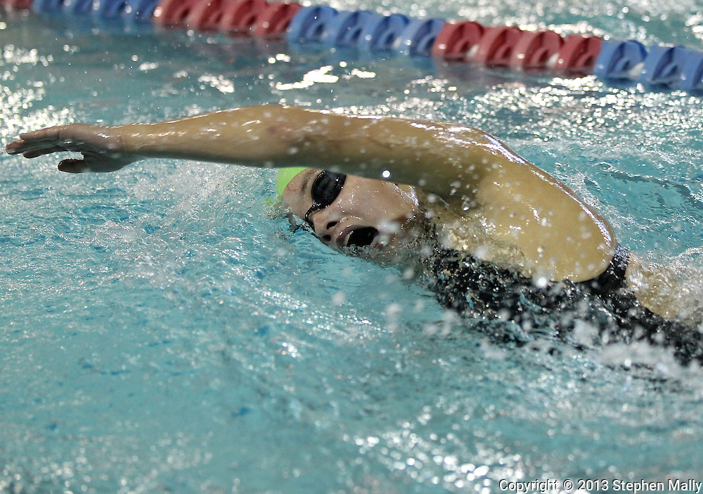 Iowa City West's Jasmine Roghair competes in the 500 yard freestyle event at the Girls' High School State Swimming & Diving Championships at the Marshalltown YMCA/YWCA in Marshalltown on Saturday, November 9, 2013. Roghair placed thirteenth with a time of 5:18.06.