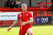 Crawley Town defender Mark Connolly (6) warms up before kick off during the EFL Sky Bet League 2 match between Crawley Town and Carlisle United at the Checkatrade.com Stadium, Crawley, England on 30 September 2017. Photo by Andy Walter.