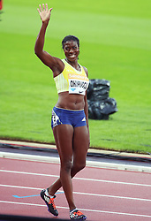 © Licensed to London News Pictures. 24/07/2015. London, UK. British athlete Christine Ohuruogu finished fourth in the 400m in the Diamond League at the Olympic Stadium as part of the Sainsbury's Anniversary Games. Photo credit: LNP